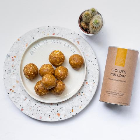 Golden Yellow Energy Balls 1